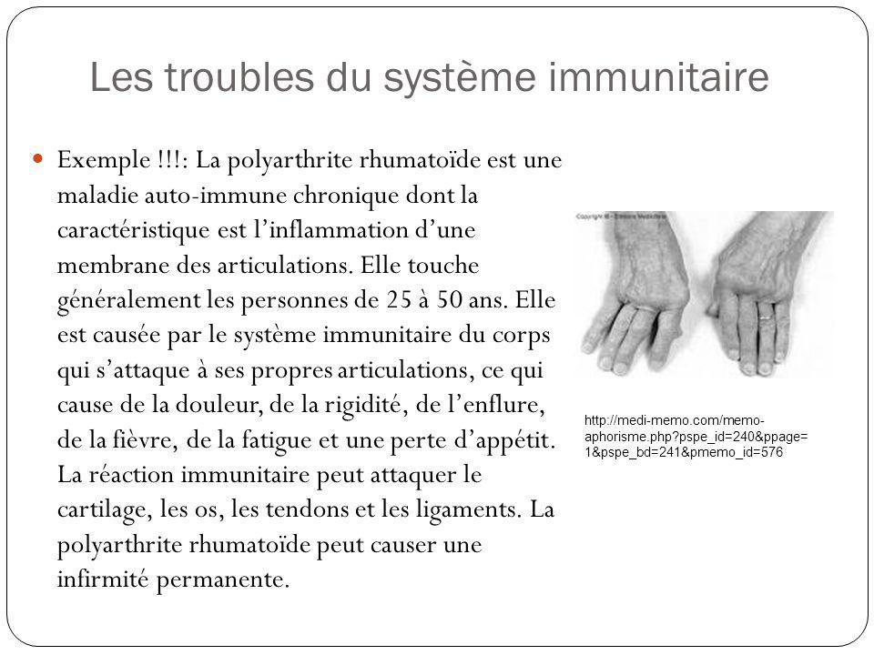 Les troubles du système immunitaire