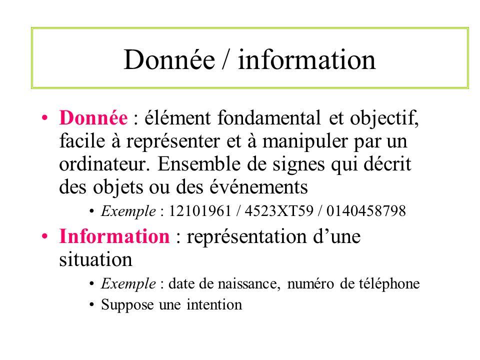 Donnée / information