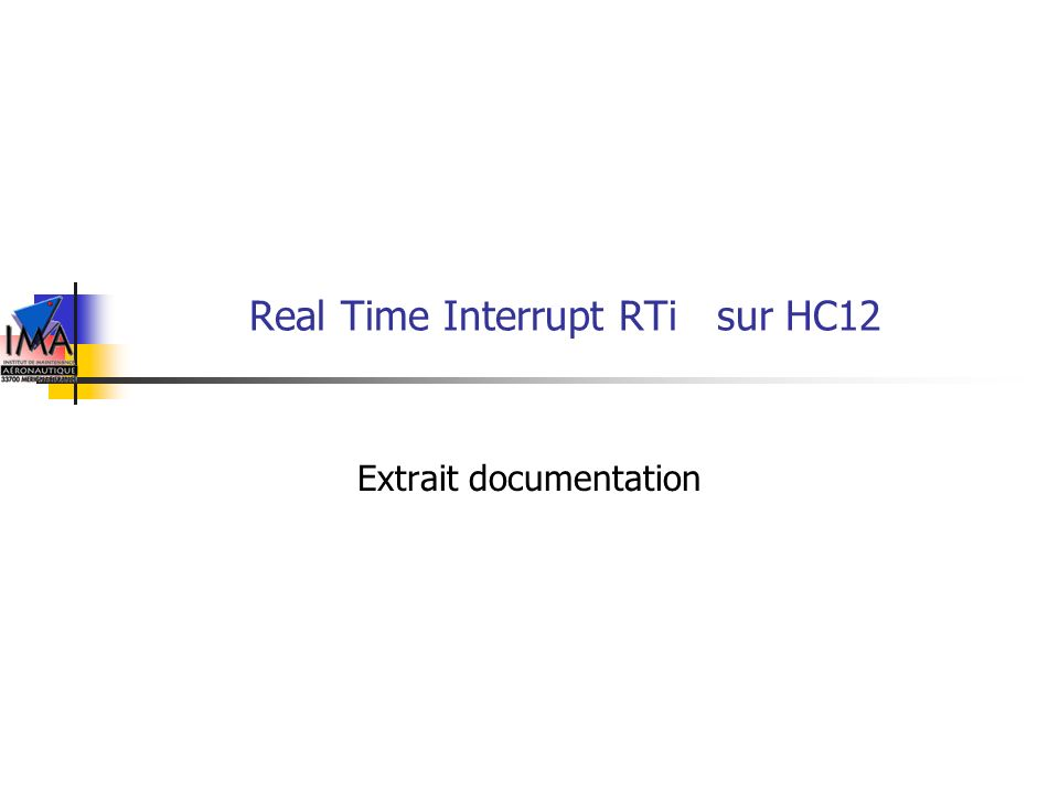 Real Time Interrupt RTi sur HC12
