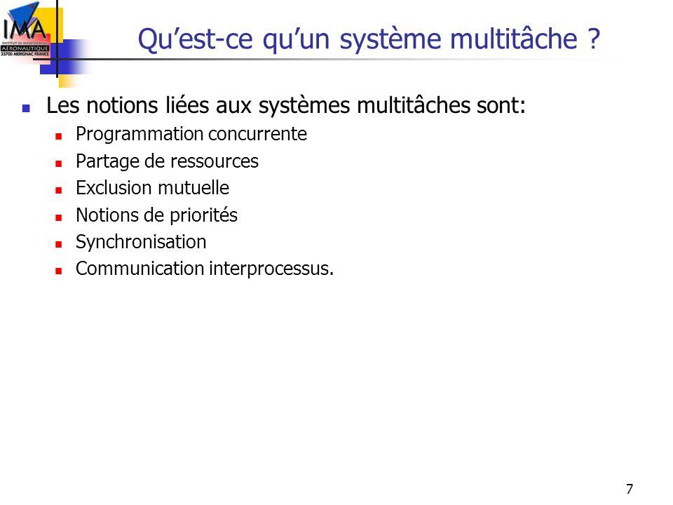 Qu'est-ce qu'un système multitâche