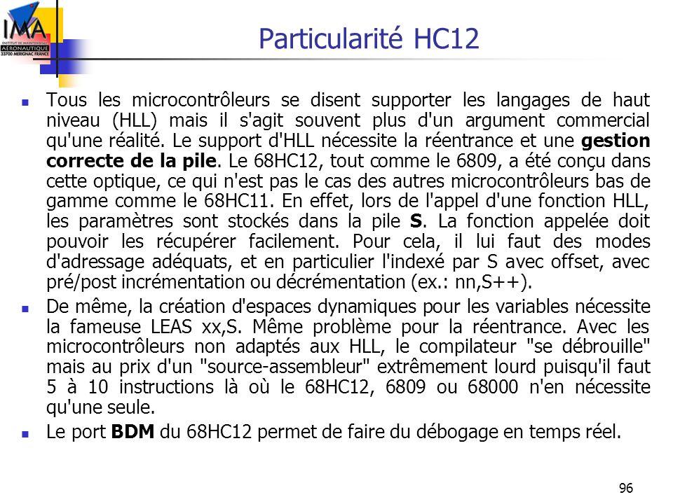 Particularité HC12