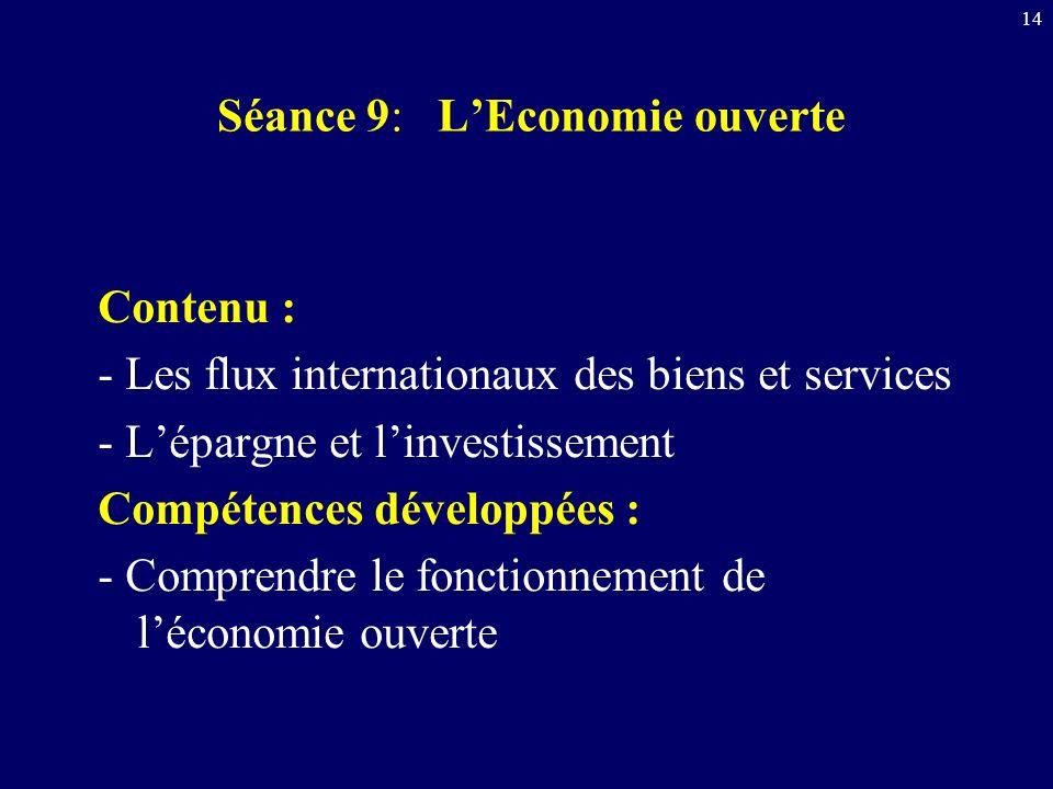 Séance 9: L'Economie ouverte
