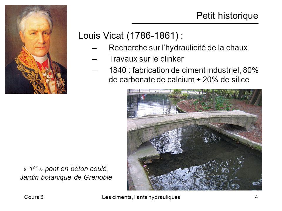 Petit historique Louis Vicat (1786-1861) :