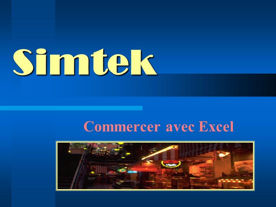 Simtek Commercer avec Excel