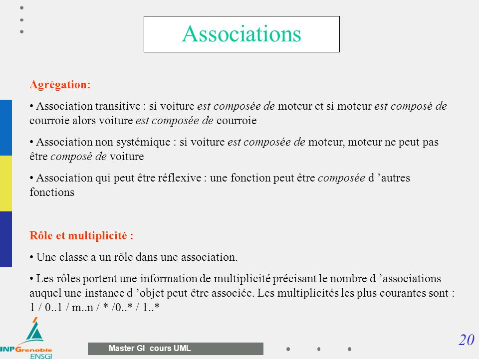 Associations Agrégation:
