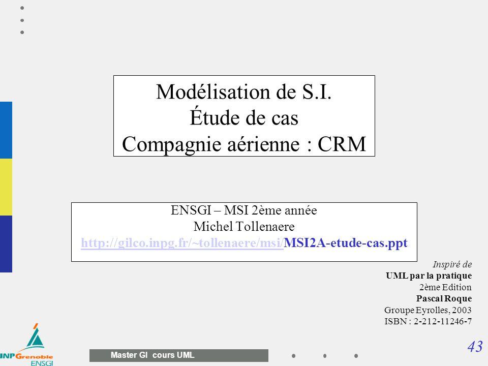Modélisation de S.I. Étude de cas Compagnie aérienne : CRM