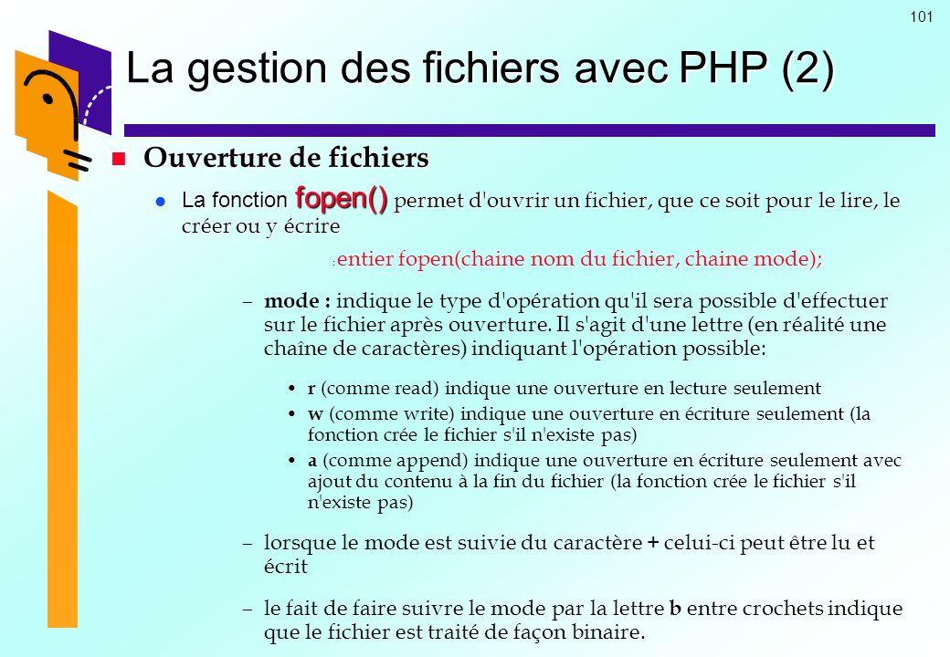 La gestion des fichiers avec PHP (2)