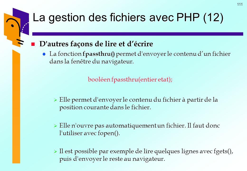 La gestion des fichiers avec PHP (12)