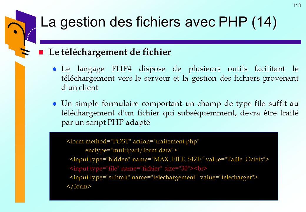 La gestion des fichiers avec PHP (14)