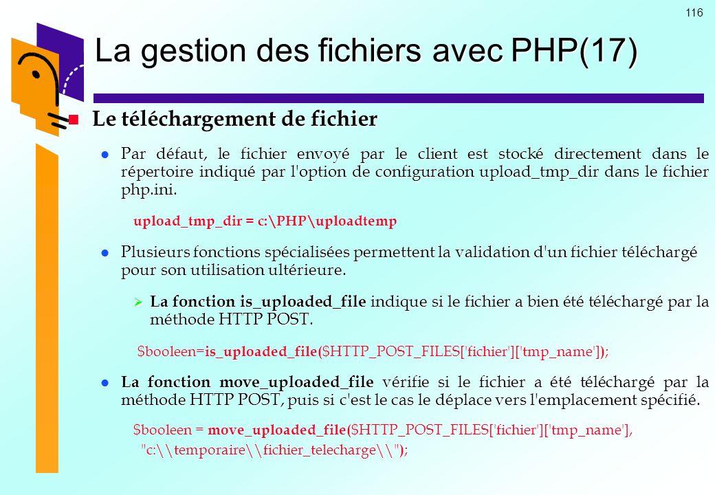 La gestion des fichiers avec PHP(17)