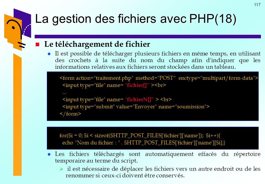 La gestion des fichiers avec PHP(18)