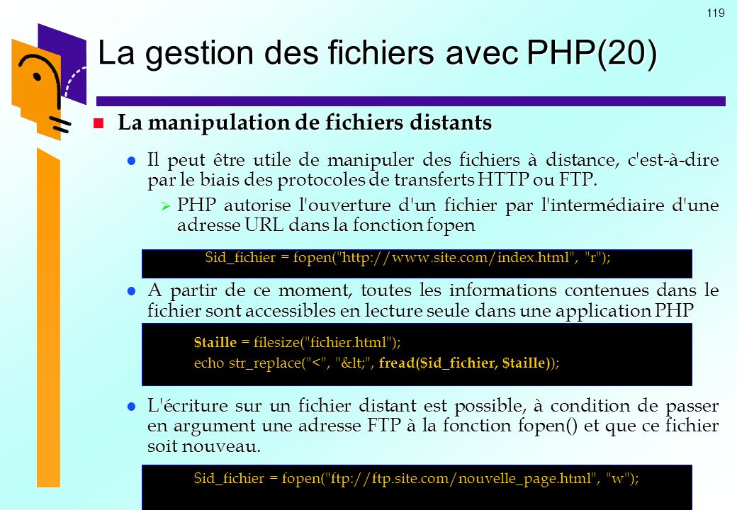 La gestion des fichiers avec PHP(20)