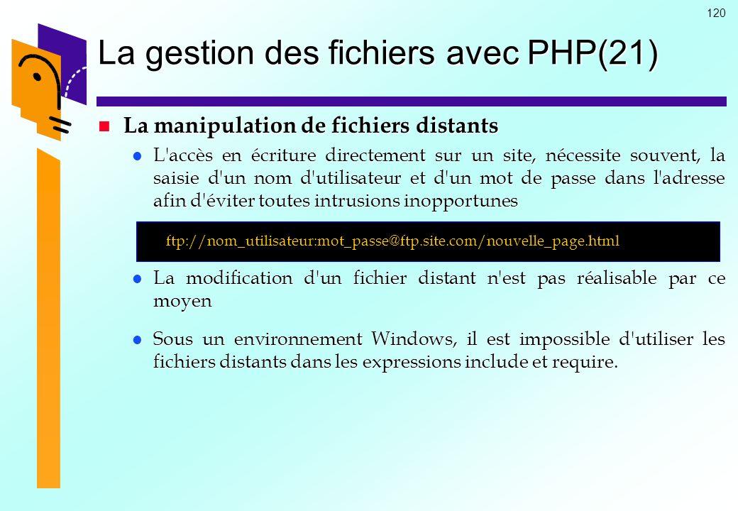 La gestion des fichiers avec PHP(21)