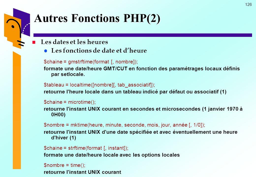 Autres Fonctions PHP(2)