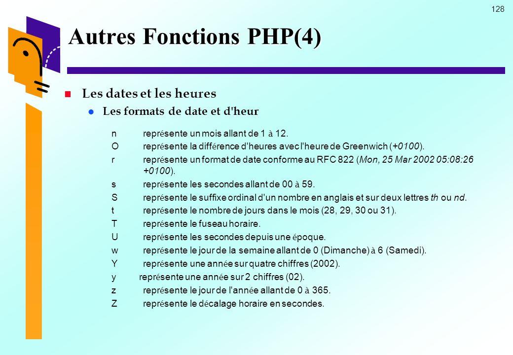 Autres Fonctions PHP(4)