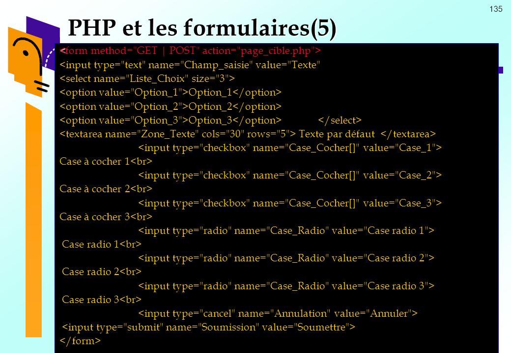 PHP et les formulaires(5)