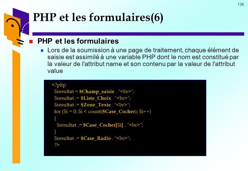 PHP et les formulaires(6)