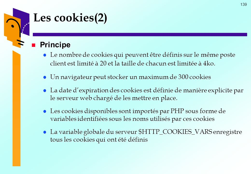 Les cookies(2) Principe