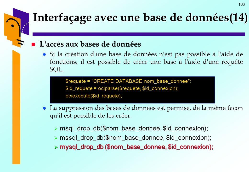 Interfaçage avec une base de données(14)