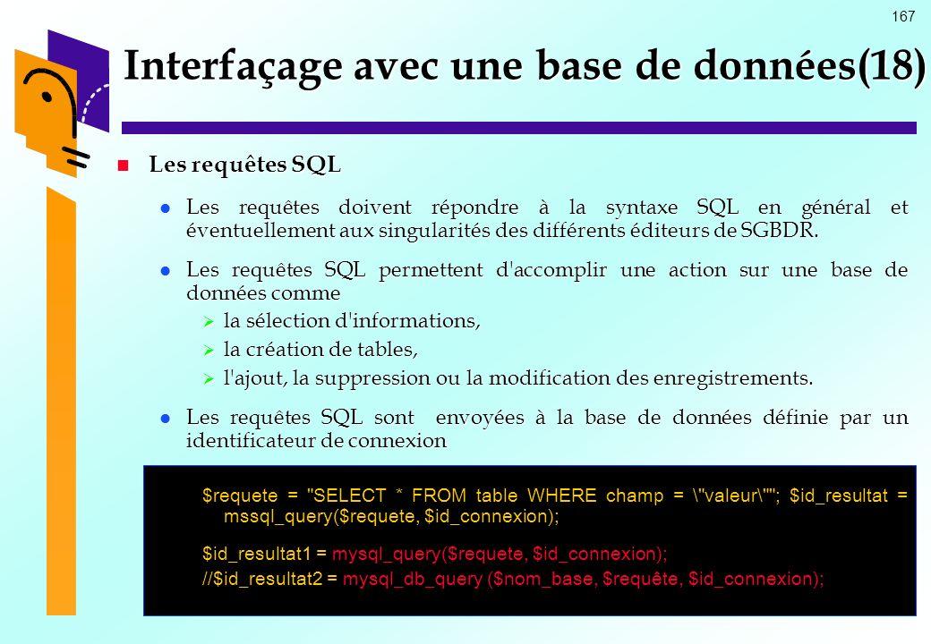 Interfaçage avec une base de données(18)