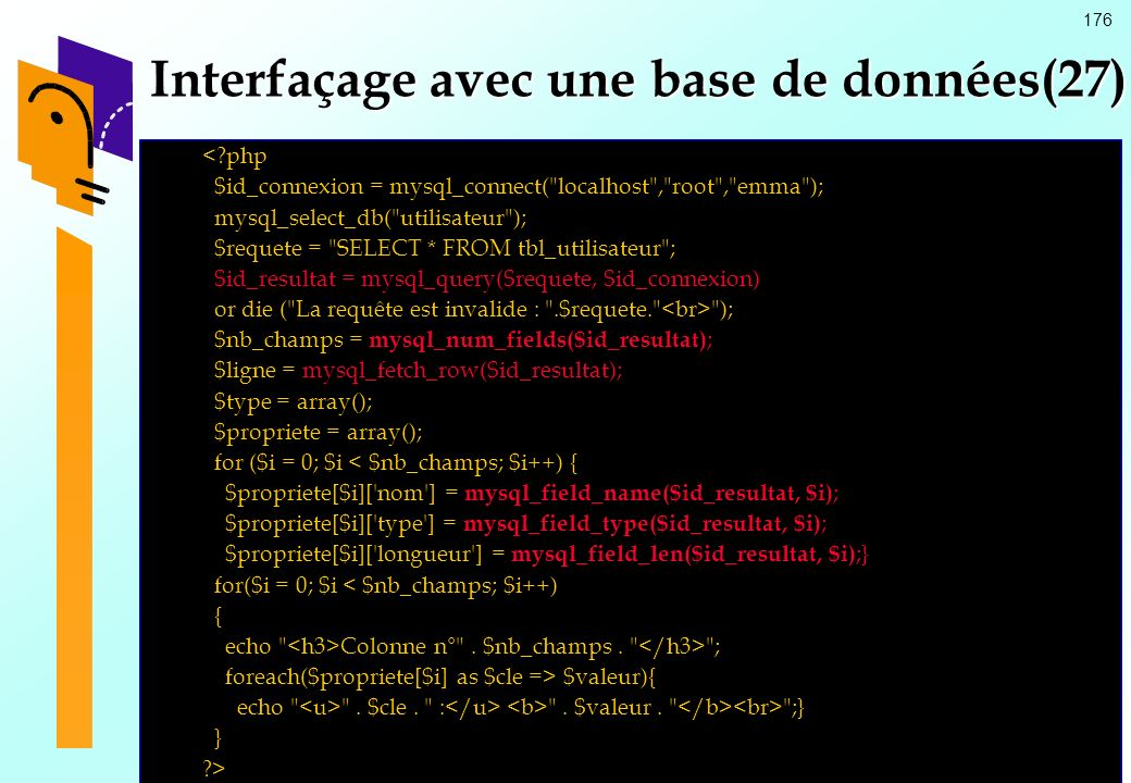 Interfaçage avec une base de données(27)