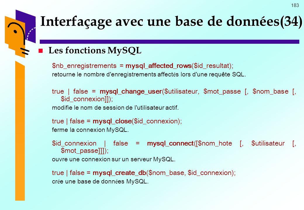 Interfaçage avec une base de données(34)
