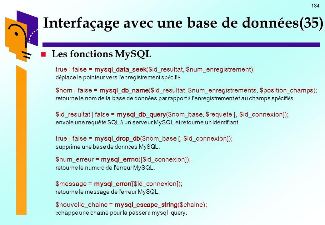 Interfaçage avec une base de données(35)