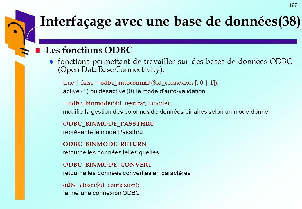 Interfaçage avec une base de données(38)
