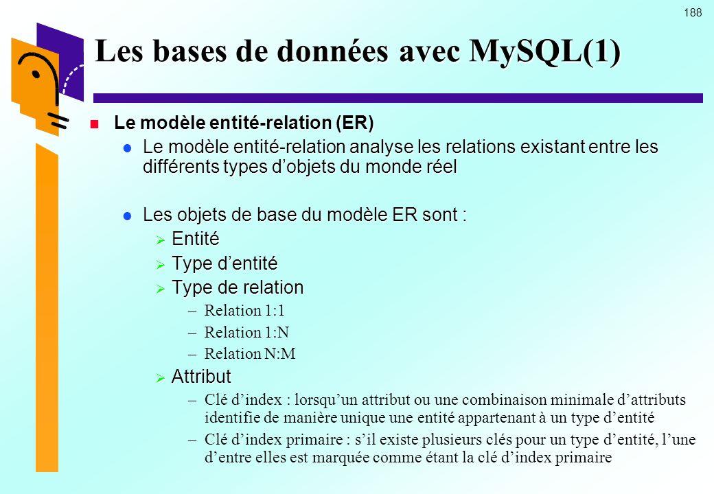 Les bases de données avec MySQL(1)