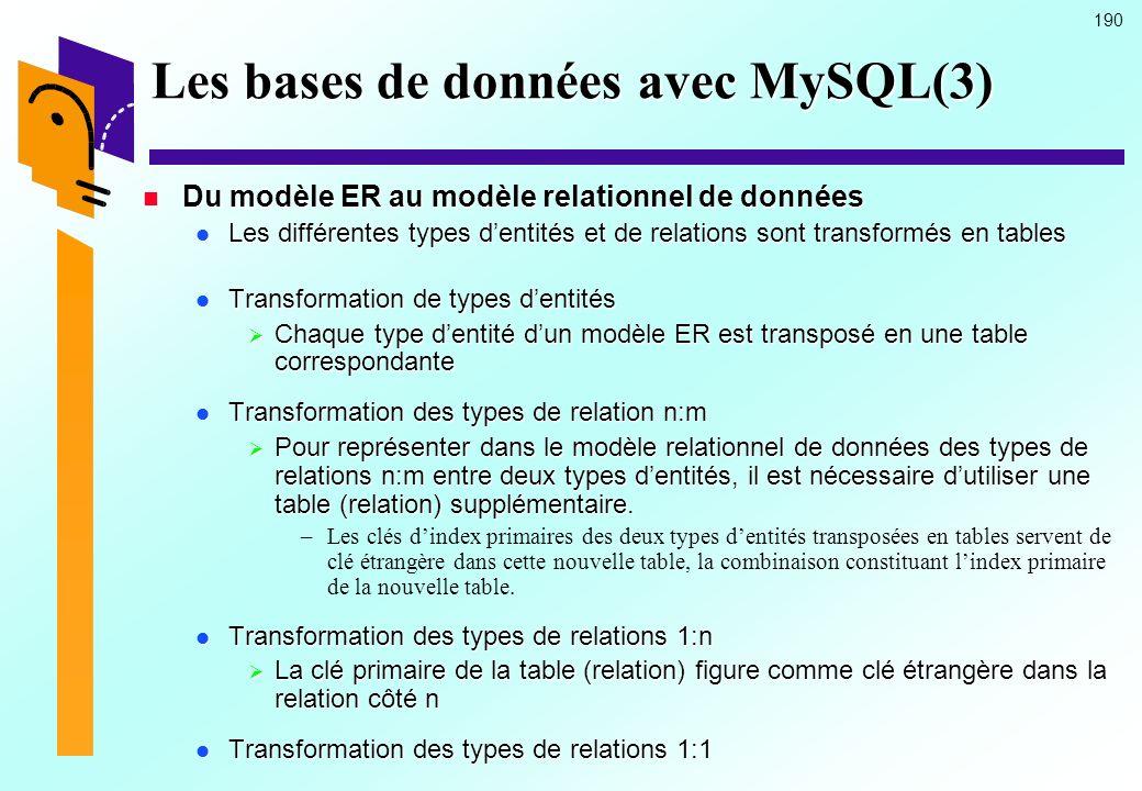 Les bases de données avec MySQL(3)