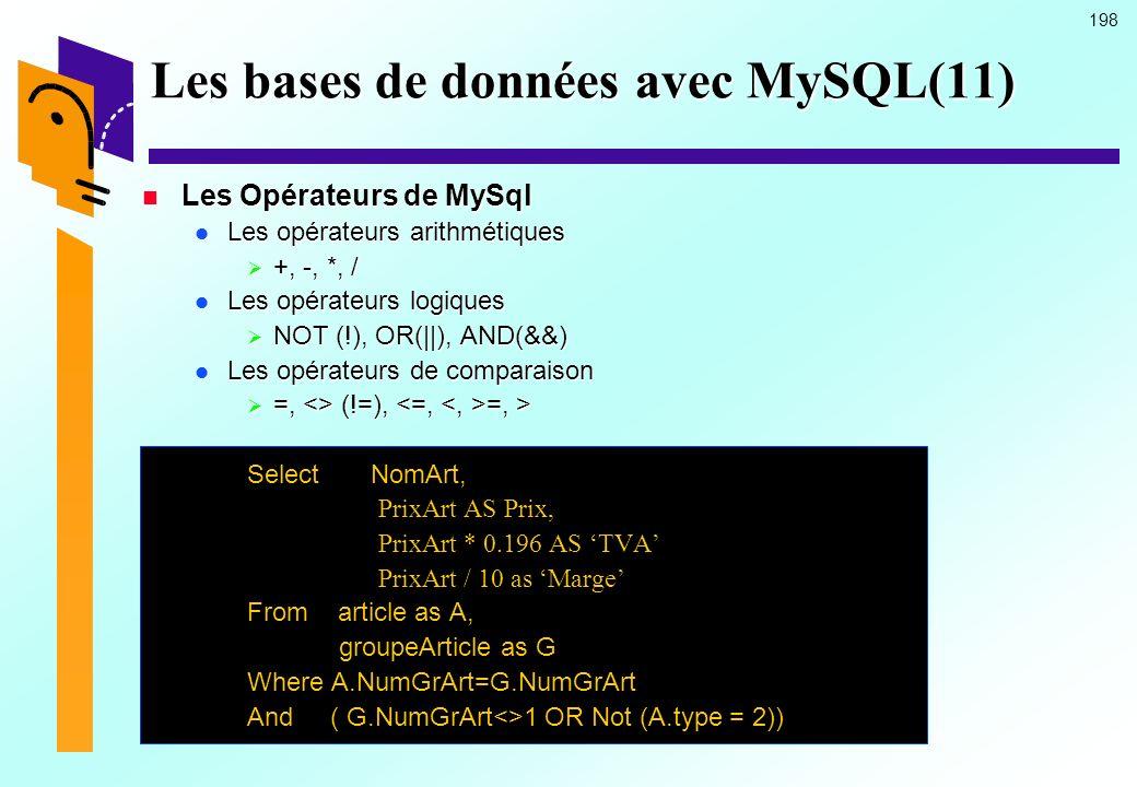 Les bases de données avec MySQL(11)