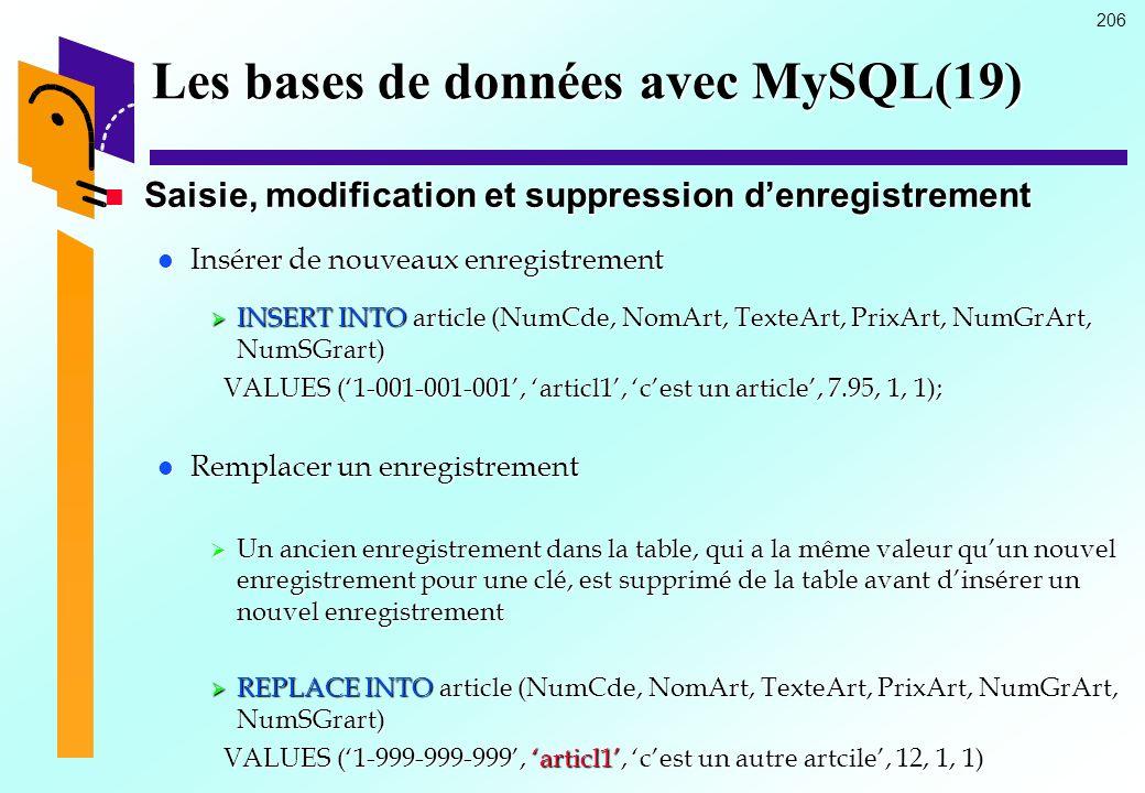 Les bases de données avec MySQL(19)