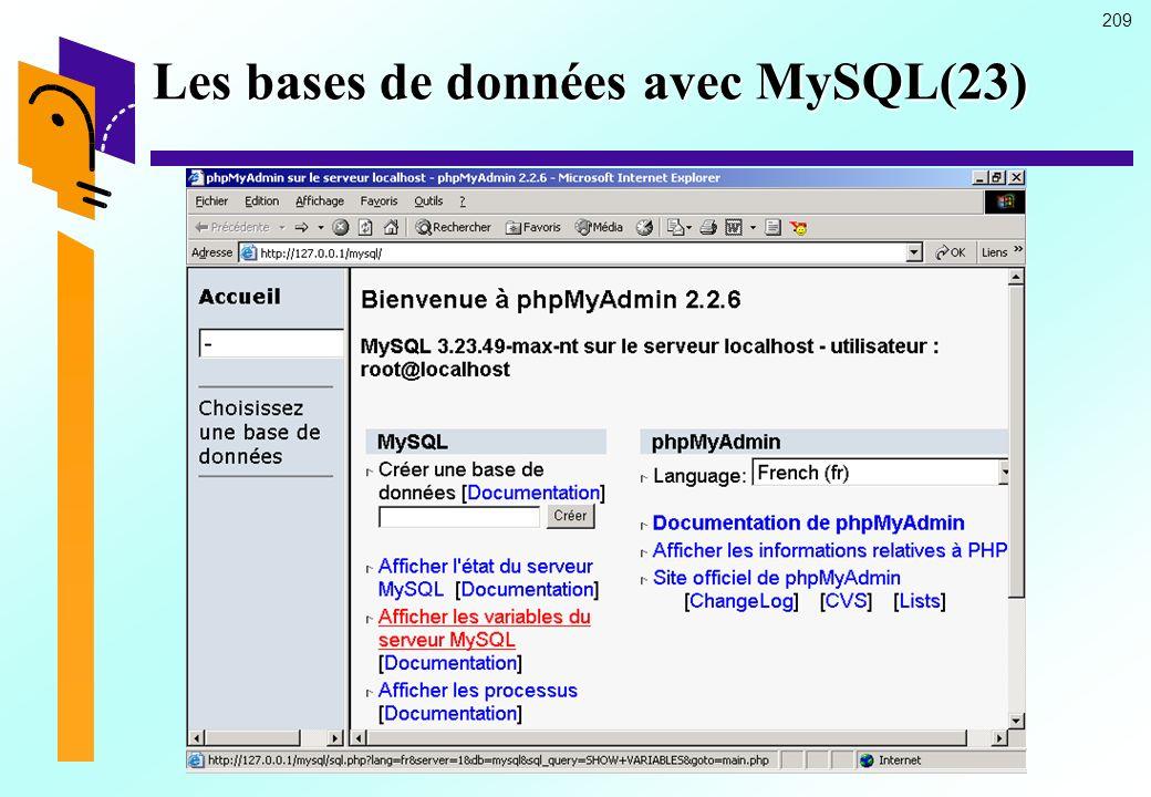 Les bases de données avec MySQL(23)