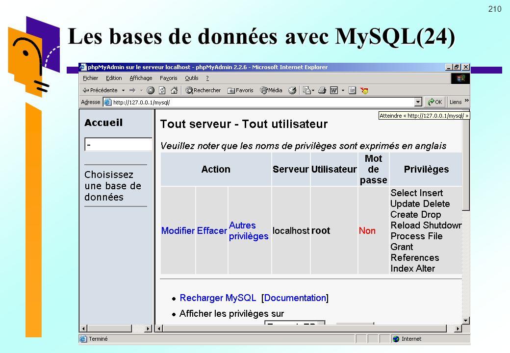 Les bases de données avec MySQL(24)
