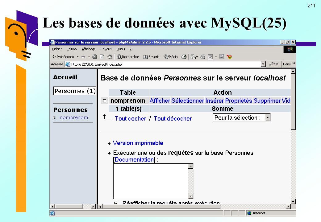 Les bases de données avec MySQL(25)