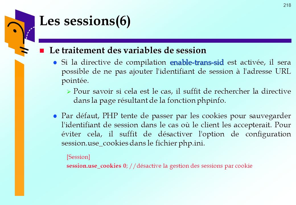 Les sessions(6) Le traitement des variables de session