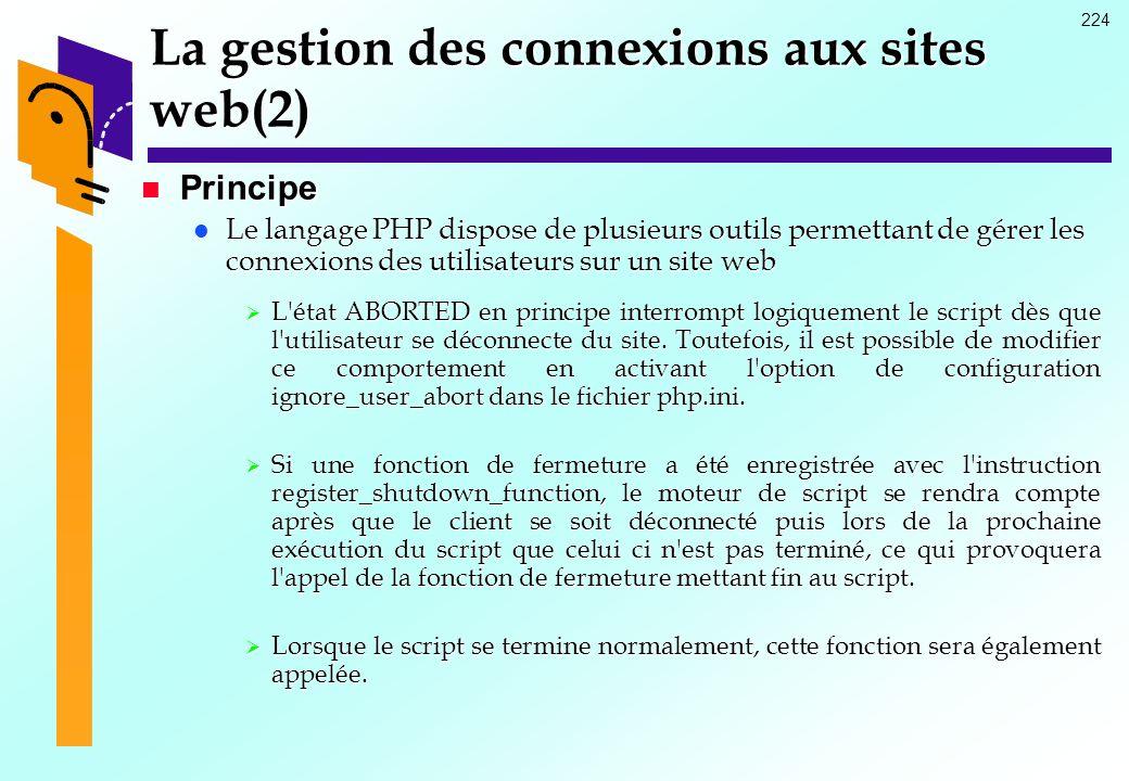 La gestion des connexions aux sites web(2)
