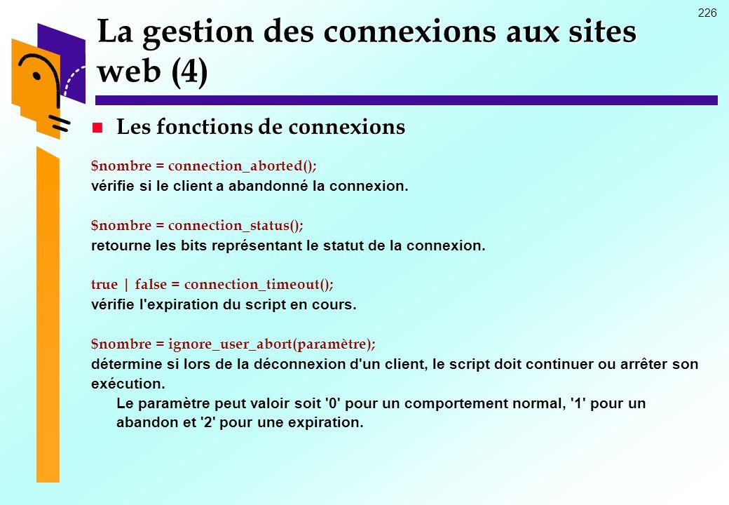 La gestion des connexions aux sites web (4)