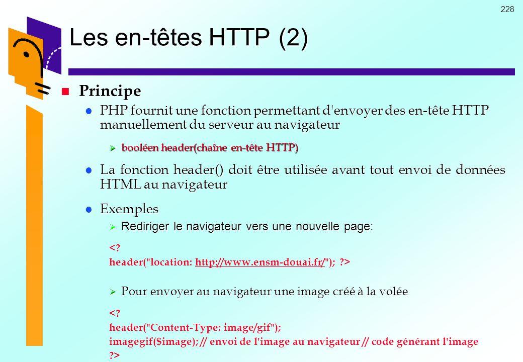 Les en-têtes HTTP (2) Principe