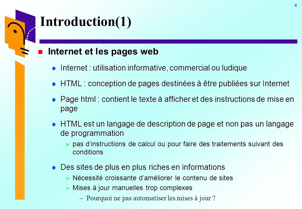 Introduction(1) Internet et les pages web