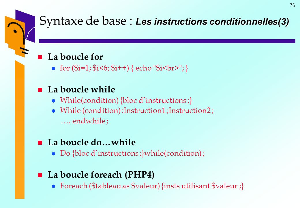 Syntaxe de base : Les instructions conditionnelles(3)