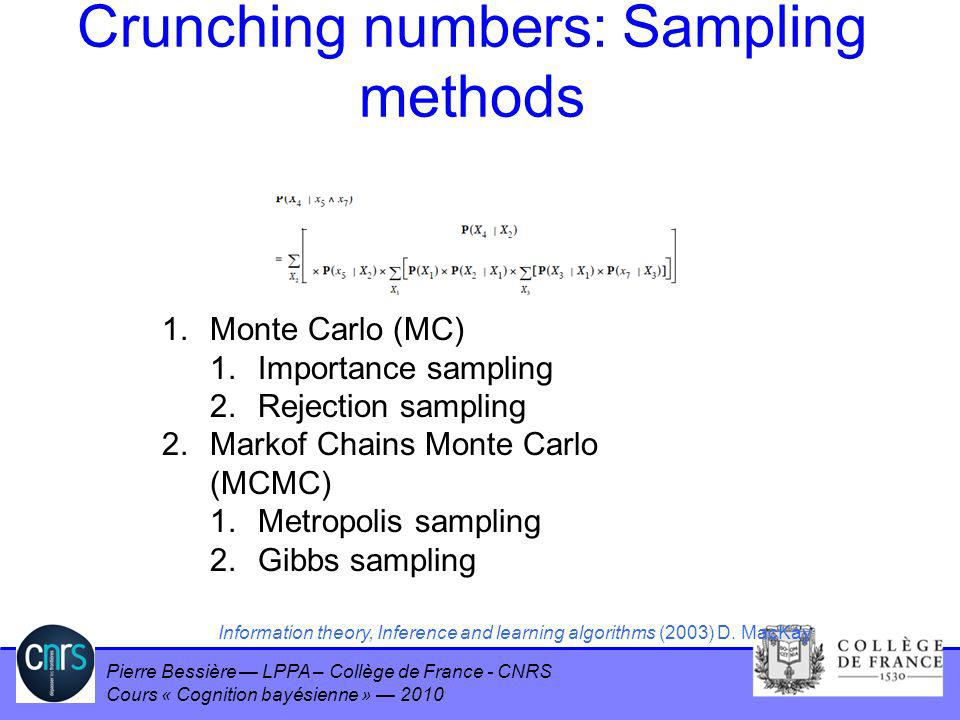 Crunching numbers: Sampling methods