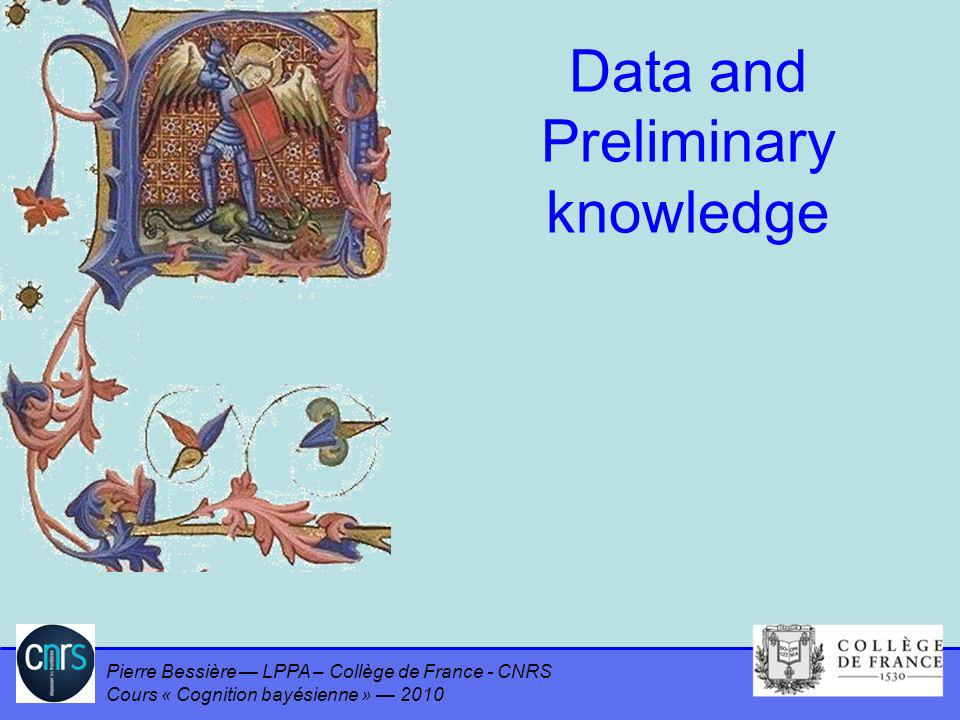 Data and Preliminary knowledge