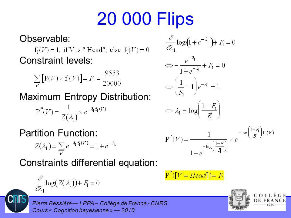 20 000 Flips Observable: Constraint levels: