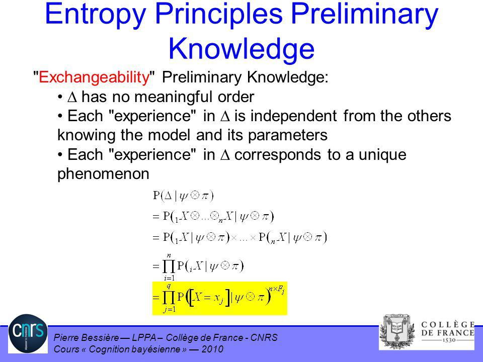 Entropy Principles Preliminary Knowledge