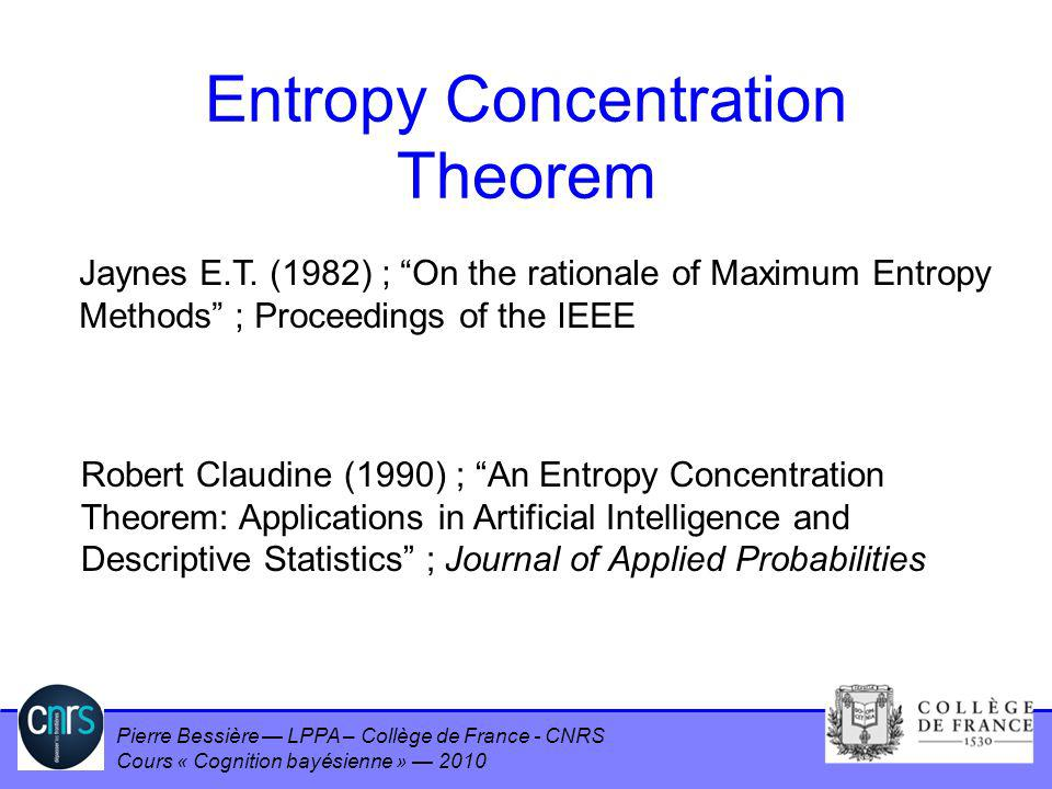 Entropy Concentration Theorem