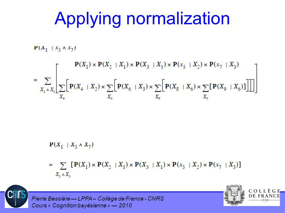 Applying normalization