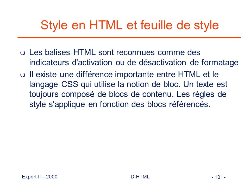 Style en HTML et feuille de style