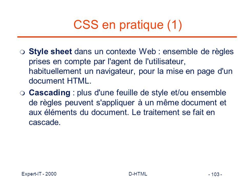 CSS en pratique (1)