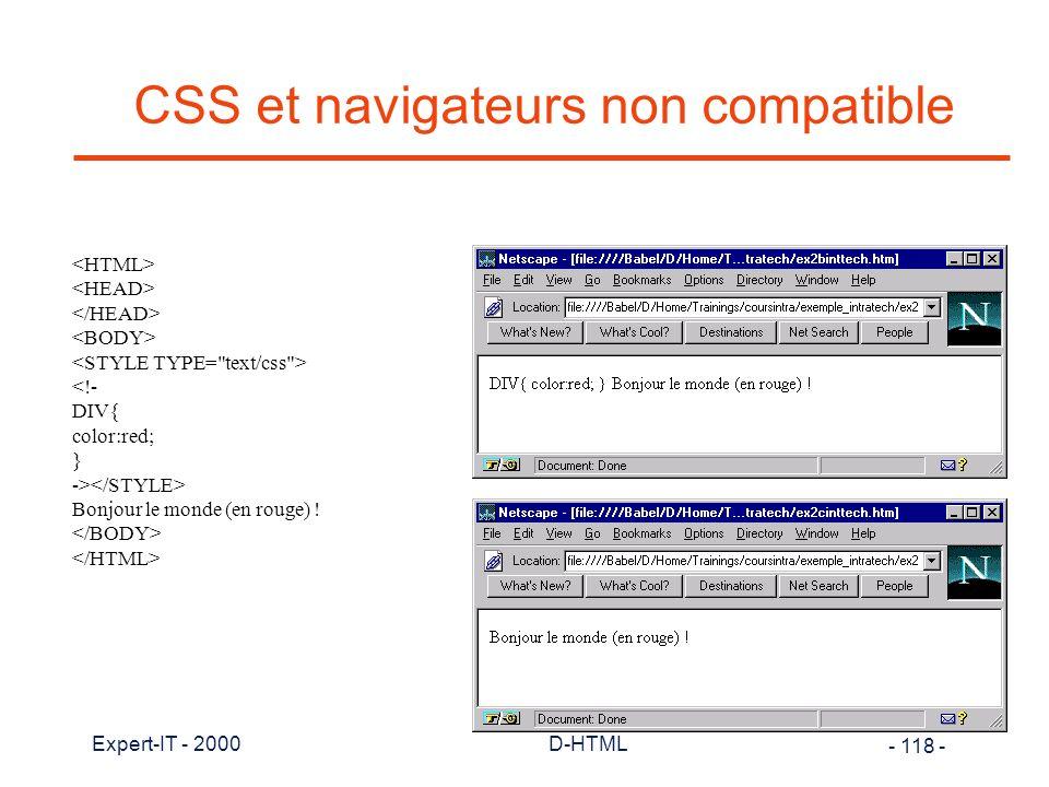 CSS et navigateurs non compatible